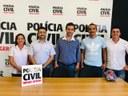 A mesa diretora do Legislativo visita delegado Regional de Polícia Civil
